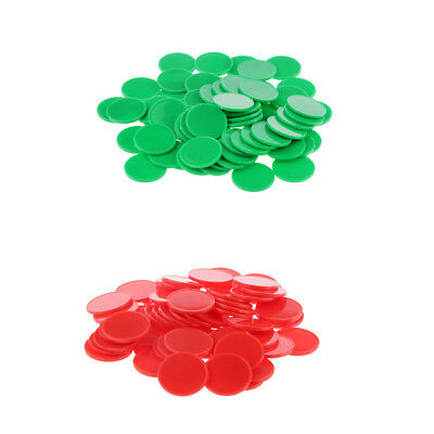200pcs Plastic Blank Poker Chips Tokens for Party Casino Game Supplies
