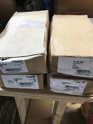 Pair of Stanley National Hardware N145-581 Box Rail Hangers Barn Track