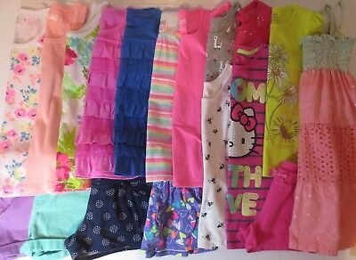 LOT Girls Size 7 7/8 Spring Summer Clothes Outfits Dress Shirts Shorts