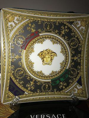 Versace Tray Dish Candy Medusa Baroque Roll Gold Rosenthal New Box Sale