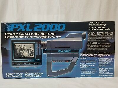 PXL-2000 Deluxe Camcorder System Complete In Box Vintage Camcorder Set