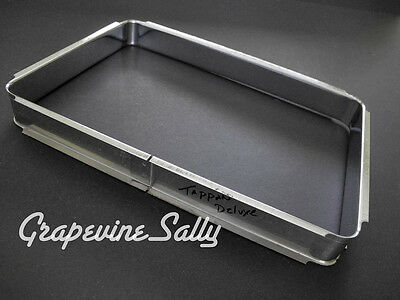 Vintage Stove Parts - Tappan Deluxe Stove Window Oven Door Glass Chrome Frame