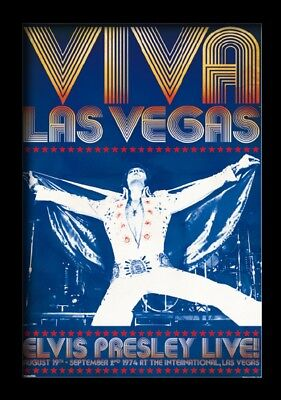 ELVIS PRESLEY VIVA LAS VEGAS 13x19 FRAMED GELCOAT POSTER MUSIC LEGEND KING NEW!!