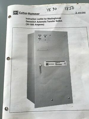 1,000 AMP Westinghouse Genswitch Automatic Transfer Switch