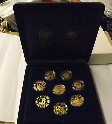 2000 Sydney Olympics 8 Gold Proof $100 10g Coin Set .999 Box COA Perth Mint