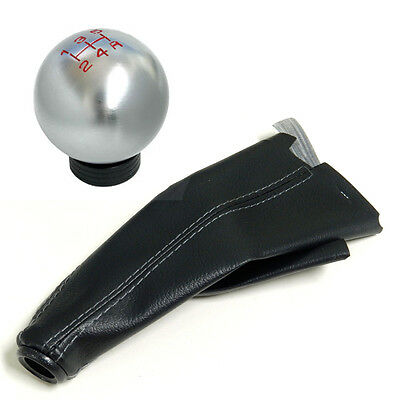 TITANIUM CNC BILLET RACING SHIFT KNOB AND BOOT COMBO FOR NISSAN 5 SPEED MT
