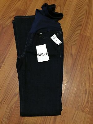 NWT Gap Maternity Jeans Long & Lean 00R Full Panel