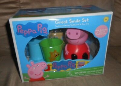 Peppa Pig Great Smile Toothbrush Set - NEW in Box