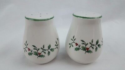 Collector's SALT and PEPPER SHAKERS Holiday Christmas Holly and Berry Berries