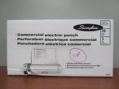 Swingline 74535 Commercial Electric 3 Hole Punch [35C]