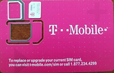 New T-Mobile Sim Card Unactivated.  T-mobile 4G LTE Sim card. TRIPLE CUT (3IN1)