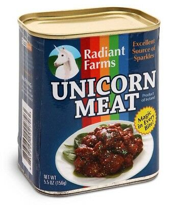 Canned Unicorn Meat, 5.5 Ounce Funny Novelty Gag Gift Stocking Stuffer Christmas