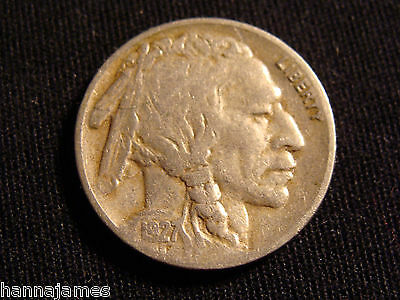 Better Grade Nice Original 1927-S Buffalo Nickel Low Cost and Low Shipping