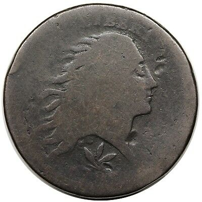 1793 Wreath Cent, Vine & Bars Edge, S-8, R.3, Fair-AG