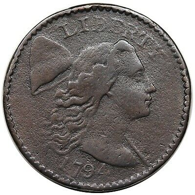 1794 Liberty Cap Large Cent, Head of '94, scarce S-47, R.4, F+ detail