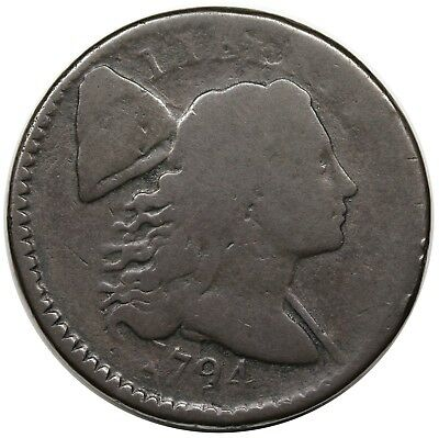 1794 Liberty Cap Large Cent, Head of '94, S-65, nice AG