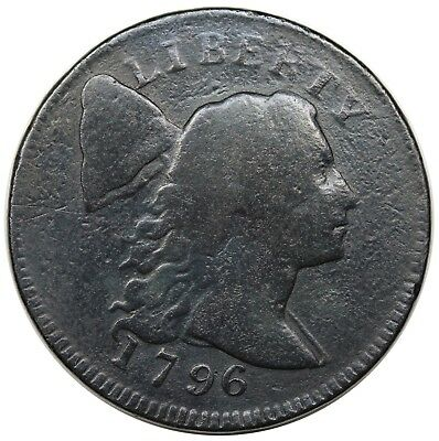 1796 Liberty Cap Large Cent, scarce S-83, R.4, VG+ detail