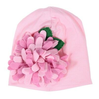1pcs Baby Newborn Boy Girl Pink Hat Cap with Cute Flower(Pink) H2L1