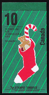 Canada — Booklet Pane of 5 — Christmas Personages: Bonhomme Noêl #1339a (BK134)