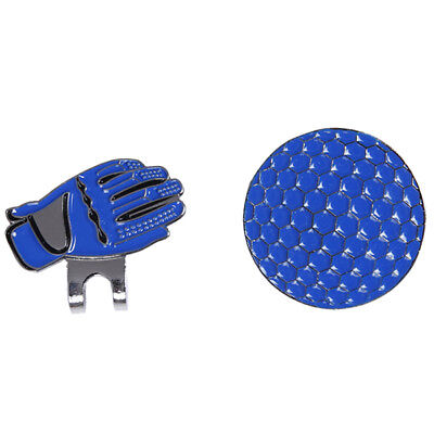 Magnetic cap clip removable metal golf gloves ball pack set blue Y4X7