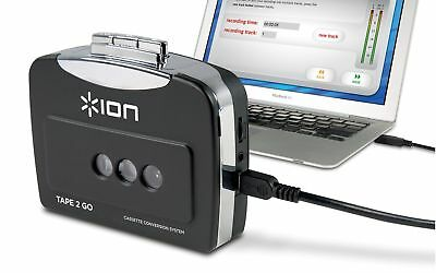 ION Audio Tape 2 Go   Portable Analog to MP3 Digital Cassette Converter/P... NEW