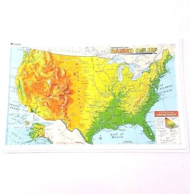 Relief Map Of United States.Nystrom Raised Relief Map Of The United States