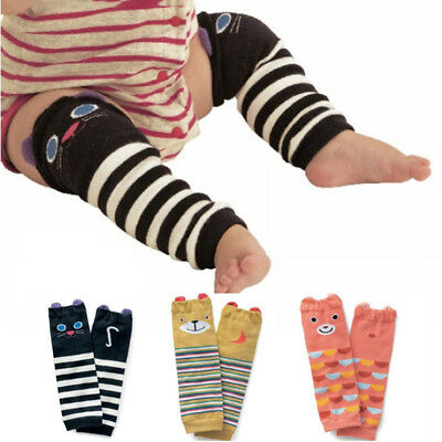 Kids Basic Knee Socks Baby Elbow Crawling Walk Protector Knee Pads 3d Cute Socks
