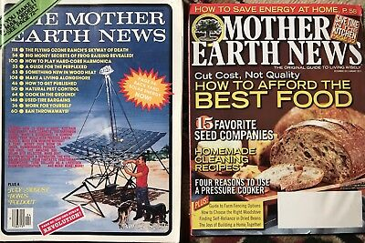 Vintage Lot Of 10 Mother Earth News Build A Barn Grow A Garden Solar Energy