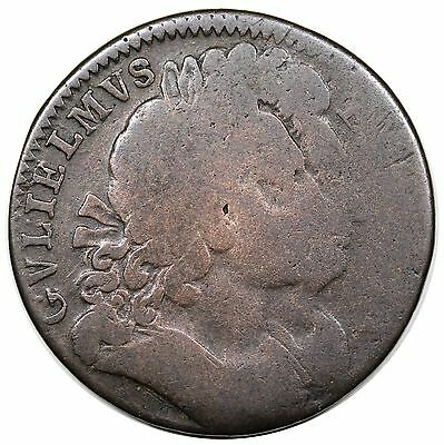 (c. 1694) Great Britain Pattern Halfpenny, William & Mary, ENGLISH COPPER, AG