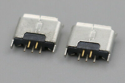 10Pcs Female Micro USB 180 Degrees USB-AB DIP 5Pin Solder Socket Connector