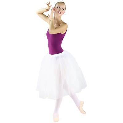 Danzcue Ladies Long Soft Tulle Ballet Tutu Skirt