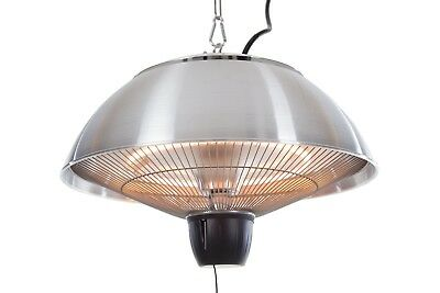 Hanging Patio Heater Ceiling Electric Halogen Outdoor Gazebo 1500W Stainless St