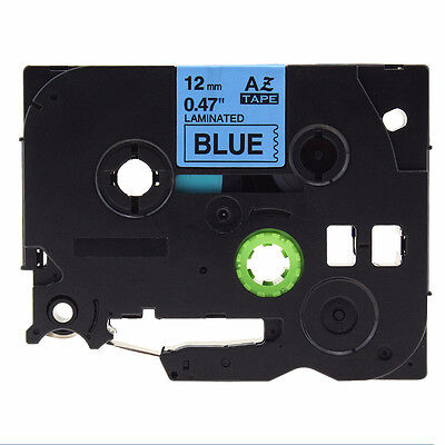 12mm Laminated Label Tape for Brother P-touch TZe 231/TZE731 Tape Black on Blue