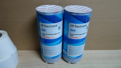 NEW HP INDIGO Digital Press 10000 Electroink Cyan Q4202B 2 Cans