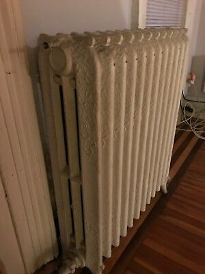 Antique Hot Water Cast Iron Radiator