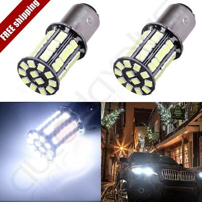2x 1157 BAY15D Cree LED SMD Xemon White Light Turn Signal Lamp 6000K 6000LM