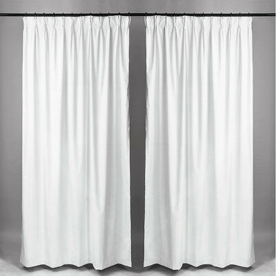 100% Blackout Microfiber Pinch Pleat Insulated Curtain Back Coating  2 Panels