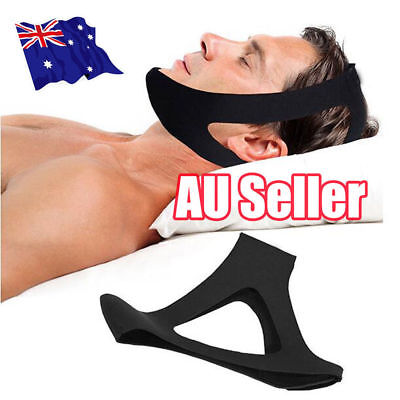 Anti Snore AntiSnore Chin Strap Stop Snoring Solution Chin Support Sleep Belt BK