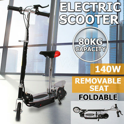 Electric Scooter 140W Adjustable Foldable Portable Height Adults/ Kids With Seat