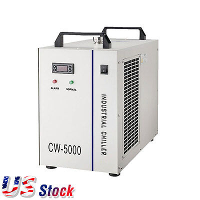 US stock S&A 110V Industrial Water Chiller CW-5000DG for 80W/100W CO2 Laser Tube