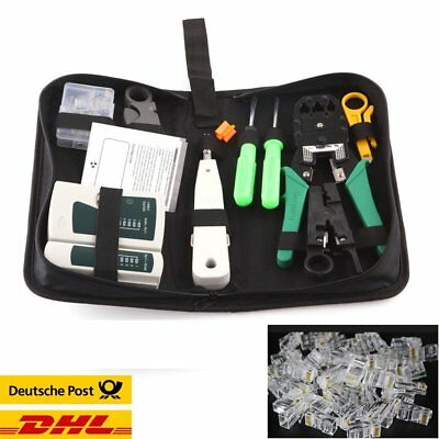 9in1 RJ11 RJ45 Network Tool Kit Kabeltester Wartung Stripper Repair Set + Case