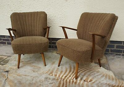 Pair Of Vintage East German Armchairs Cocktail Chairs Great Condition Aug17