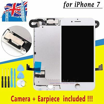 LCD Screen For iPhone 7 Complete Touch Replacement Digitizer Camera White 4.7''