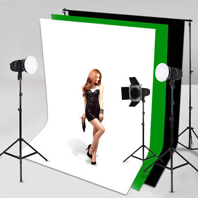 White Green Black 1.6*3M Photography Studio Non-woven Backdrop Photo Background