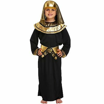 Egyptian Pharaoh Costume Kids Size Age 4-6 Years World Book Day Dressing Up