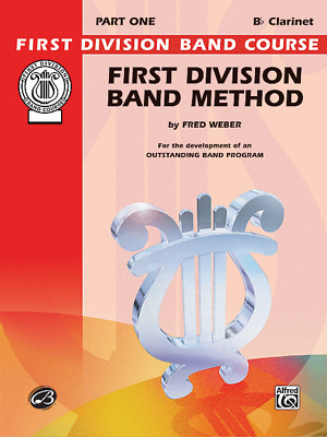 """First Division Band Method Level 1 """"Clarinet"""" Music Book-Brand New On Sale!!"""