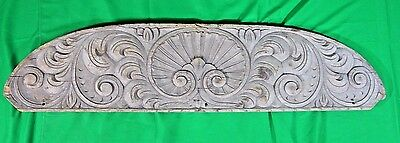 Spanish Colonial Early 1800s Wood Pediment