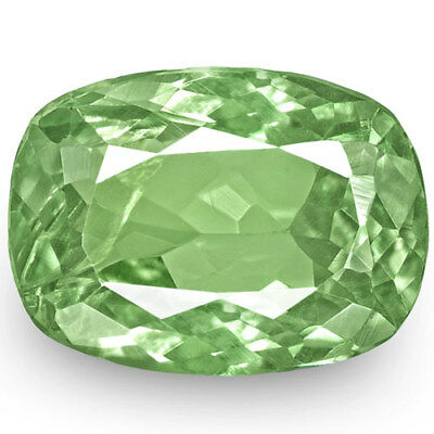 1.75-Carat Natural Cushion-Cut Lustrous Pastel Green Alexandrite from Russia