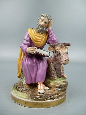 Antique 18th Century Niderviller French Porcelain Figurine of St Luke - Luc PC