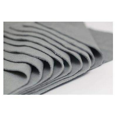 400mm x 400mm Microfibre Cloth 10 Pack in Black, Grey, Pink